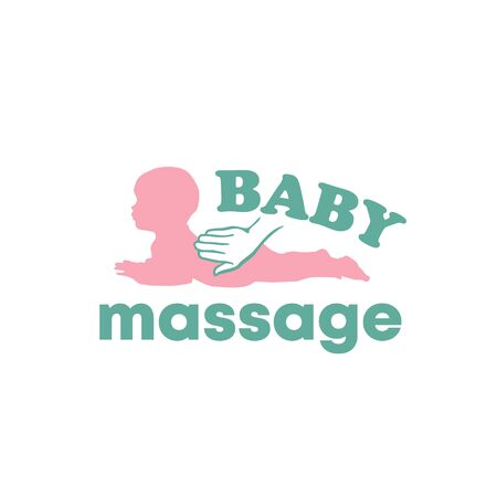 Baby newborn massage logo with hands vector 版權商用圖片 - 133012853