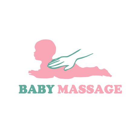 Baby newborn massage logo with hands vector 版權商用圖片 - 133012859