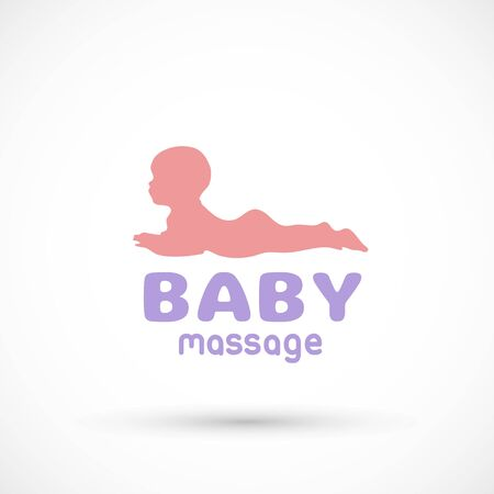 Baby health icon massage or doctor sign child Illustration