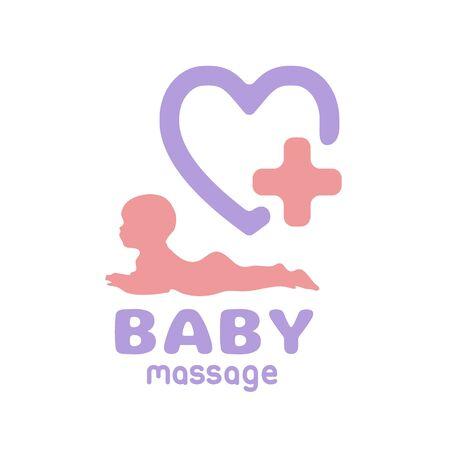 Logo Baby health icon massage or doctor care icon body child symbol silhouette 版權商用圖片 - 133012871