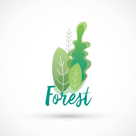 Forest logo icon green color bright sign vector