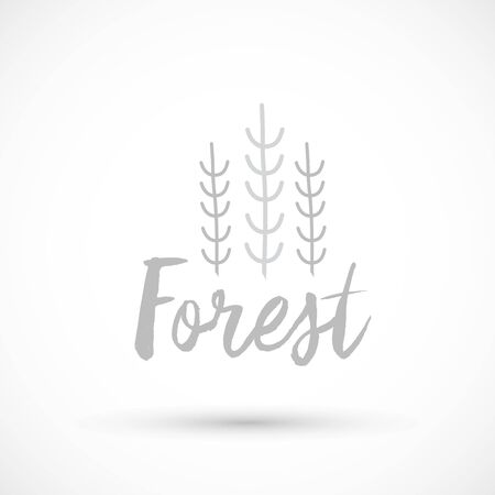 Forest logo icon gray color sign vector 版權商用圖片 - 133012877