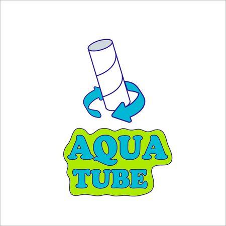 Aqua tube toilet pack symbol biodegradable paper dissolve vector sign organic material