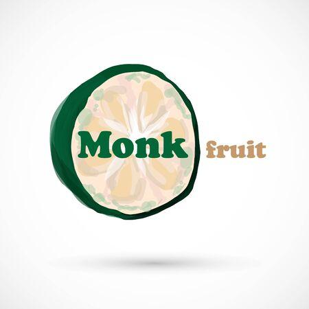 Monk fruit siraitia herb plant vector illustration 版權商用圖片 - 133012894