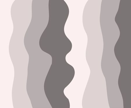 Wave curl pattern vector background fabric textile pastel color vertical curve ornate print curtain