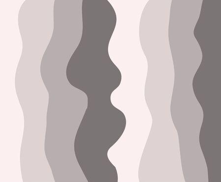 Wave curl pattern vector background fabric textile pastel color vertical curve ornate print curtain Banco de Imagens - 136423974