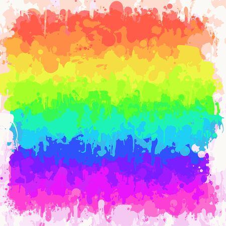 Rainbow watercolor brush strokes background Ilustrace