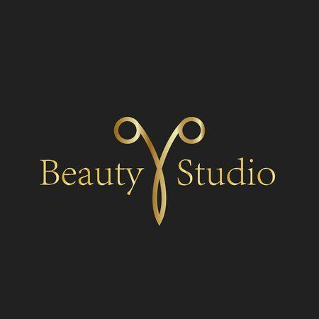 Scissors logo beauty salon studio haircut luxury sign