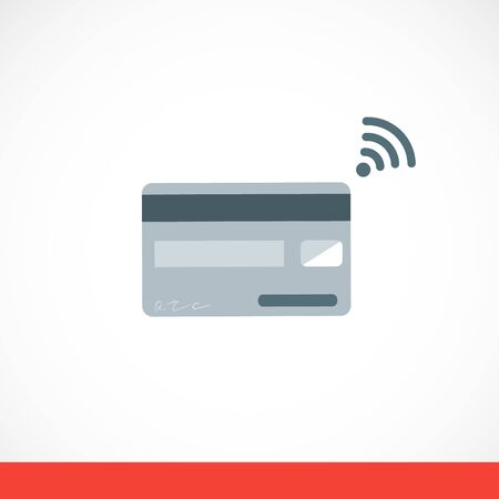 Card payment sign gray vector flat illustration