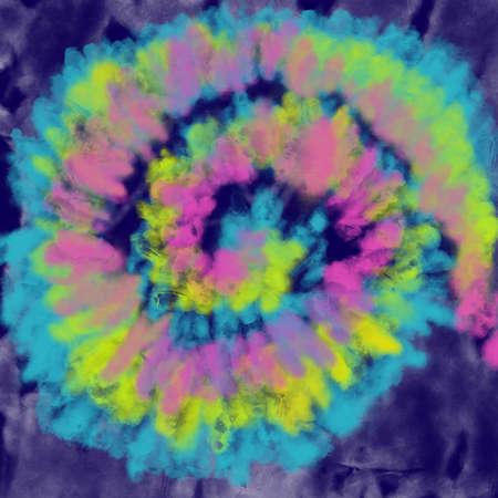 tie dye style background curl swirl rainbow print spot brush
