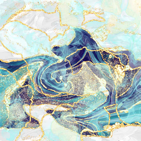 marbling abstract luxury composition Inkscapes. Watercolour landscape, texture, Alcohol ink, Fluid chaos, art, kintsugi style and liquid and watercolor gold blue turquoise