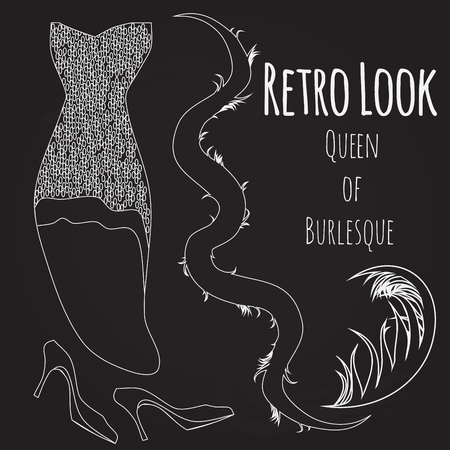 stage costume: illustration of burlesque retro look