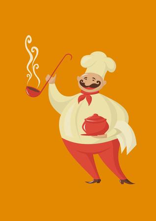 smilling: Smilling cook Illustration