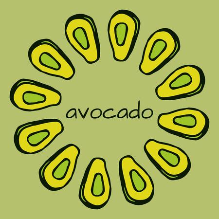 latinoamerica: doodle avocado background