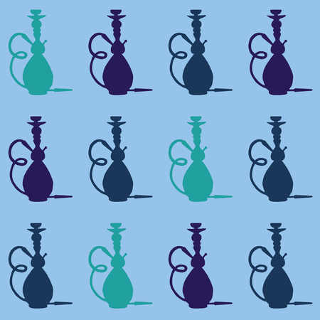 hookah: Hookah icon with phrase relax take it easy, illustration of hookah