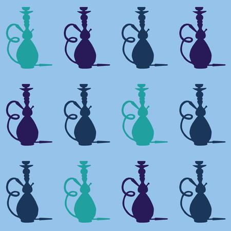 shisha: Hookah icon with phrase relax take it easy, illustration of hookah