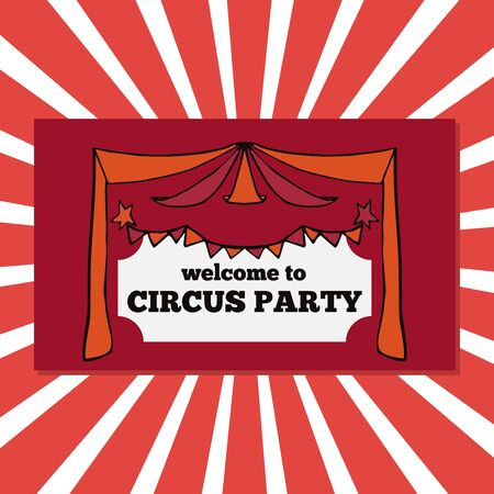 circus: Vector retro circus party tickets illustration, circus fair template, carnival banner Illustration