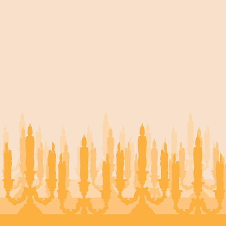 candlestick: silhouette of candlestick. chandelier icon isolated vector Illustration