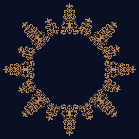 blumen verzierung: Vector ornate classic floral ornament background Illustration