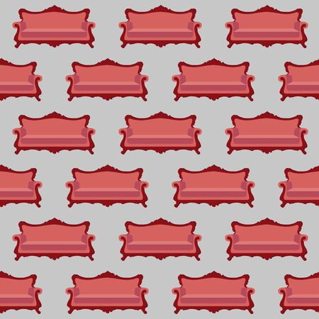 sofa: illustration of sofa. sofa icon, seamless pattern