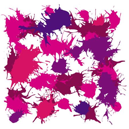 inkblot: Ink splash blotch, grunge background, spot of paint with drops
