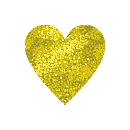 golden heart: Gold shining sparkle glittering background, golden heart