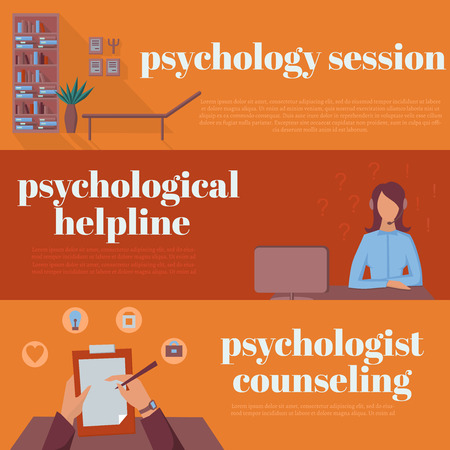 session: psychologist office for counseling, online psychotherapy helpline, psychological session Illustration