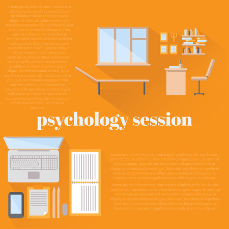 psychologist: flat psychologist office for counseling, office workplace