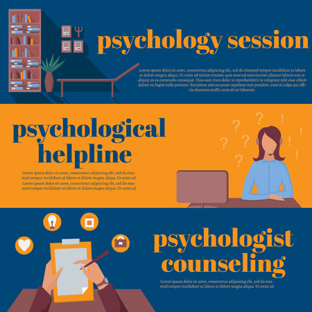 counseling: psychologist office for counseling, online psychotherapy helpline, psychological session Illustration