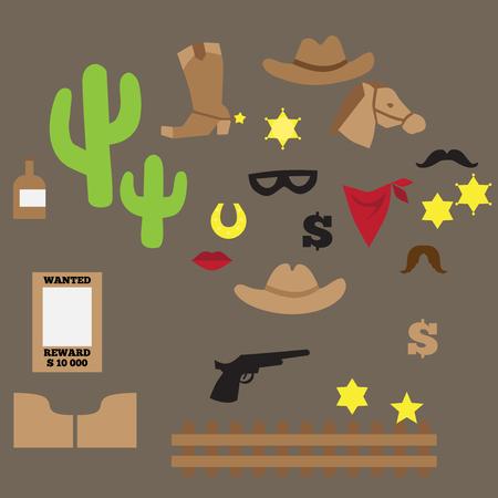 western theme: flat set of vintage cowboy party ideas