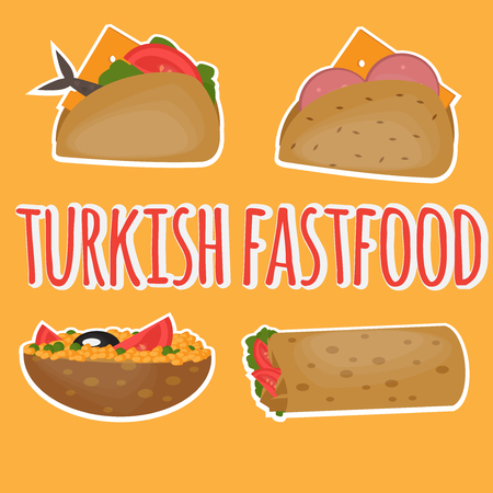 Turkish Fast food, Traditional mediterranean street food, Turkish cuisine.
