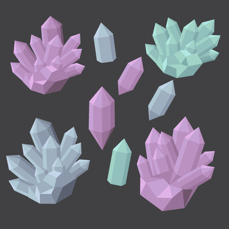 mineral stone: Colorful shiny bright crystals. Polygon stone mineral and poly  shape rocks.
