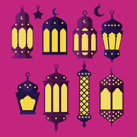 turk: Ramadan Kareem - Islamic Holy Nights, Theme Design background, Ramadan latern, saint fest, arabian and turk religion culture set