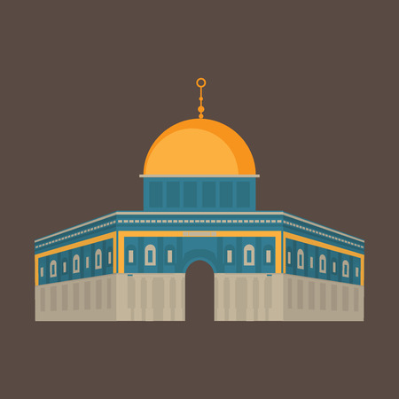 Al-Aqsa Mosque in Jerusalem, Israel. Dome of the rock. Religios architecture