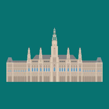 town hall: Austrian City sights in Vienna. Austria Landmark Travel And Journey Architecture Elements Town hall,