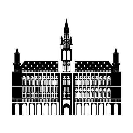 Brussel, Stadhuis van België Stad op Grote Markt Grote Markt, het centrale plein van Brussel
