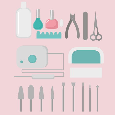 Manicure nail instruments tools. Accessories and equipment