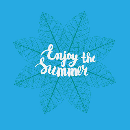 Summer hand drawn Lettering, holiday, travel and beach vacation calligraphy phrase.