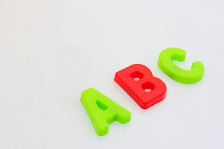 Colorful Letters abc on white background. learning alphabet in school, stady english