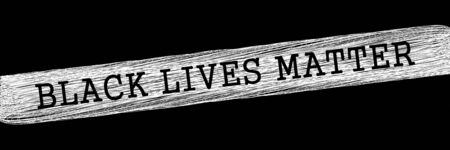 Black lives matter illustration. Banner for protest, rally or awareness campaign against racial discrimination of dark skin color. Support for equal rights of black people.