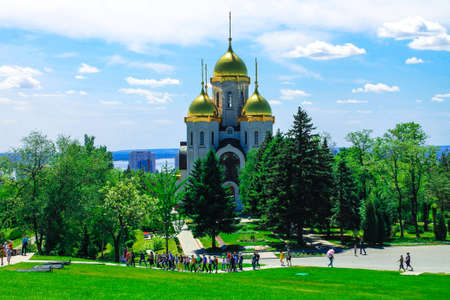 Church of All Saints. Mamaev Kurgan Volgograd. Height 102. The memorial complex the Battle of Stalingrad 1941-1945. Monument to the Soldiers of the Liberators Editorial