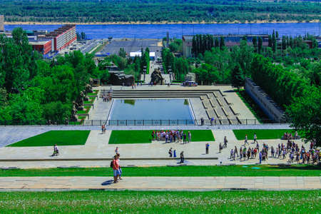 The lake of tears. Mamaev Kurgan Volgograd. Height 102. The memorial complex the Battle of Stalingrad 1941-1945. Monument to the Soldiers of the Liberators