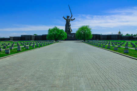 Soldier field. Church. Mamaev Kurgan Volgograd. The memorial complex the Battle of Stalingrad 1941-1945. Monument to the Soldiers of the Liberators