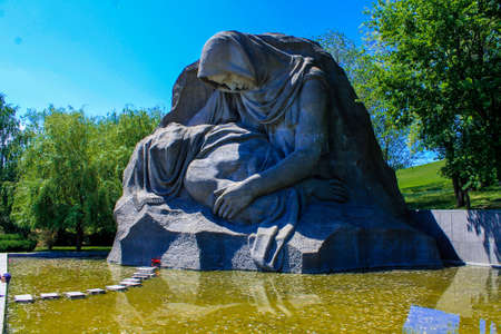 The sculpture of the grieving mother. Mamaev Kurgan Volgograd. The memorial complex the Battle of Stalingrad 1941-1945. Monument to the Soldiers of the Liberators Editorial
