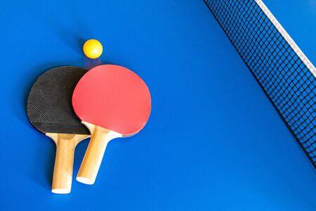 racket ball net table tennis Banco de Imagens