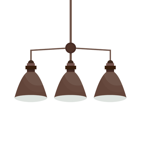 Ceiling light. Flat style. Vector illustration isolated on white background.