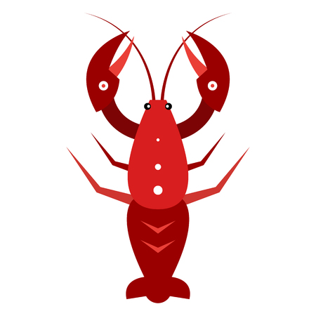 Lobster. The marine product. The template for the menu. Vector illustration isolated on white background. Illustration