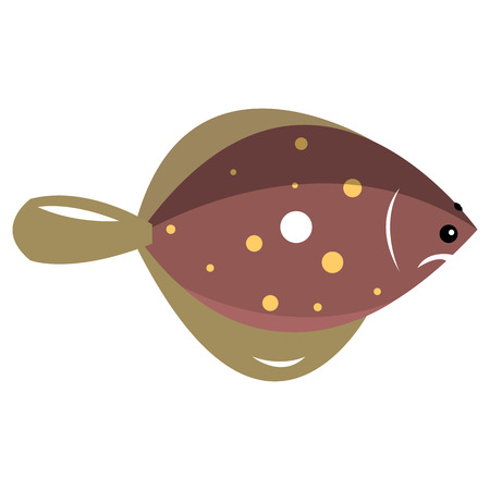 fins: Marine fish with fins. Vector illustration isolated on white background.