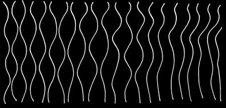 Set of wavy horizontal lines. Vector design element. A set of wavy horizontal lines with different levels of fluctuations in the angles of black isolated on a white background. Vector design element for the background