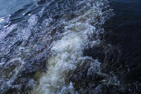 water bubbles forming a foam